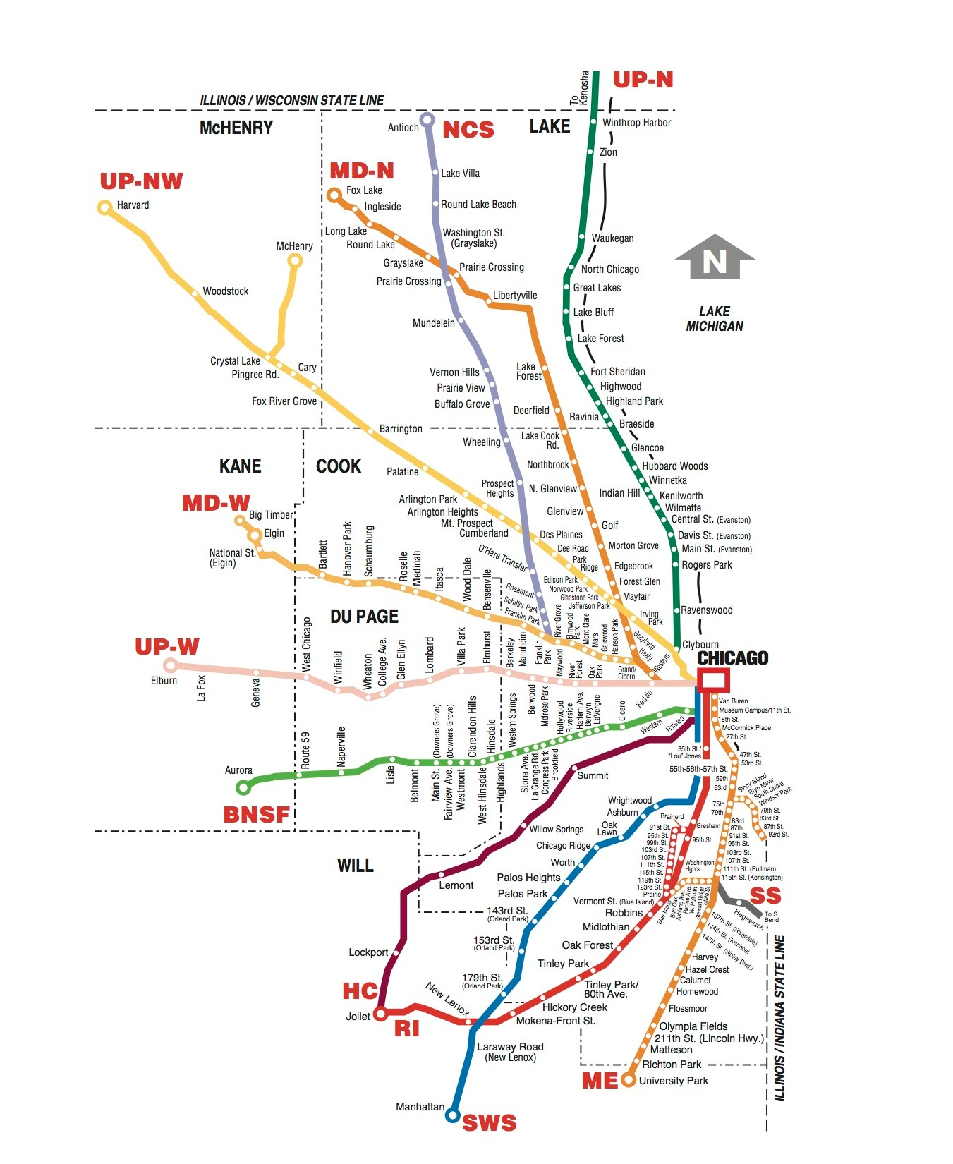 . metra map – chicago transit guide
