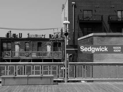 Sedgwick CTA train platform