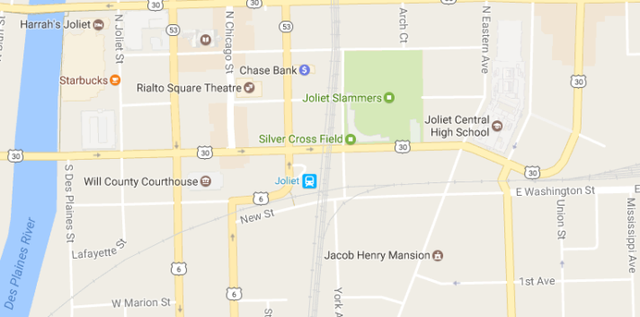 Joliet Station area map
