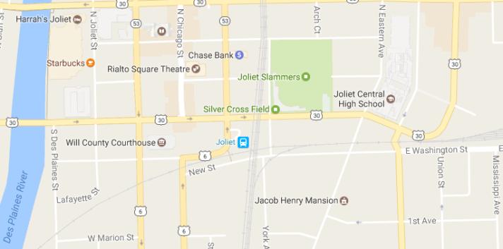 Joliet Station area map
