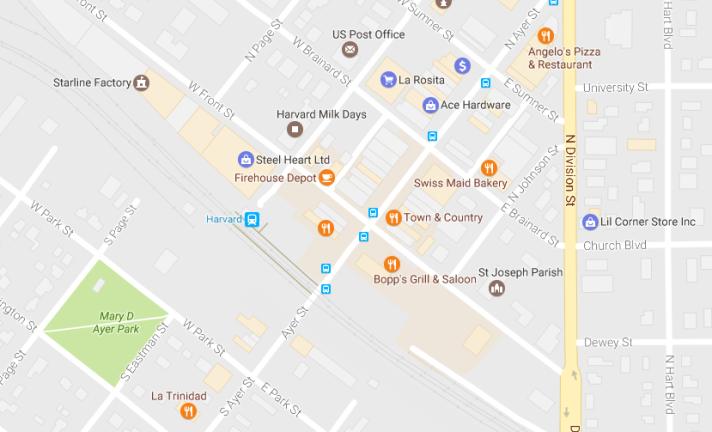 Harvard Station area map