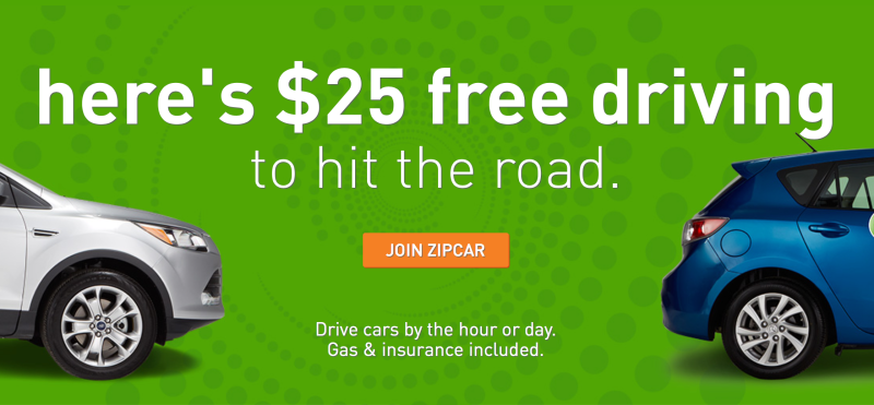 Zipcar driving credit